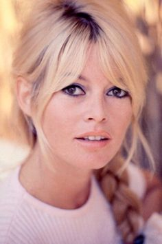 "Bridgette Bardot ... Coiffure 1960... This look is so hot now! ""Sweet pea"" fringe ;)"