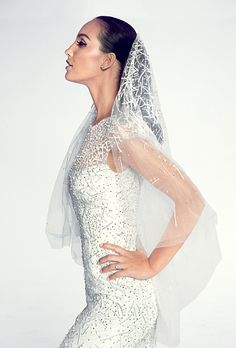 Brides.com: Beautiful Wedding Veils in Every Length Blusher Veil