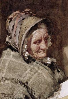 A Newlyn Fishwife, 1894, - Walter Langley, watercolor