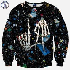 Check it on our site Mr.1991INC New Men's Fashion Sweatshirt 3d Printed Space Debris Skull Hands Hoodies Casual Autumn Tops Asia S-XL just only $14.28 with free shipping worldwide  #hoodiessweatshirtsformen Plese click on picture to see our special price for you