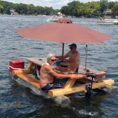 Picnic Boat - Have A Picnic on a Picnic Table Speed Boat Complete with Umbrella ---- hilarious jokes funny pictures walmart humor fails Floating Picnic Table, Boat Table, Picnic Tables, Floating Dock, Floating House, Floating Pontoon, Haha, Redneck Humor, Redneck Games