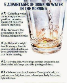 Advantages of drinking water ~ losing weight and fitness