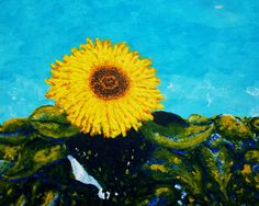 The Sunflower ORIGINAL DIGITAL DOWNLOAD by Mike by MikeKrausArt