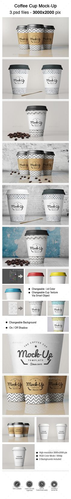 Coffee Cup Mock-Up - Product Mock-Ups Graphics Mini Coffee Cups, Coffee Cup Holder, Coffee Cup Cozy, Ceramic Coffee Cups, Coffee Mugs, Coffee Shop Branding, Cafe Branding, Coffee Packaging, Cupcake Packaging