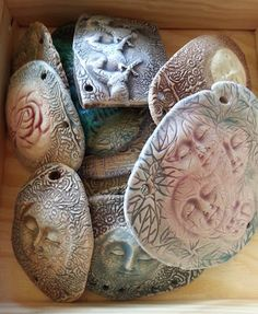 Polymer clay. Lots of GREAT stuff on this site.
