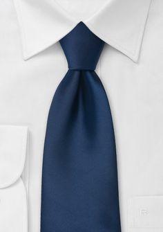 Solid color men\'s ties Midnight blue necktie
