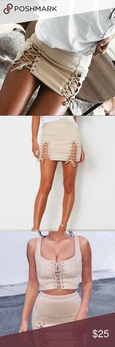 Suede Skirt Never Used, fits S-M. No trades Brandy Melville Skirts Midi