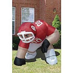 Inflatable Oklahoma Sooners  Yeah, I need one of these to put up against the Razorback one my wife undoubtedly wants. ;)
