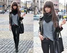 "Jacket, Pants, Bag, Topshop Boots //""CITY LOOK (LUBLIN)"" by Alexandra M // LOOKBOOK.nu"