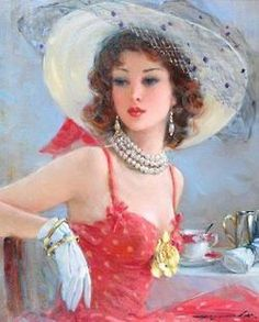 View Portrait of a lady by Konstantin Razumov on artnet. Browse upcoming and past auction lots by Konstantin Razumov. Painted Ladies, Russian Art, Woman Painting, Beautiful Paintings, Classic Paintings, Love Art, Female Art, Lady In Red, Vintage Ladies
