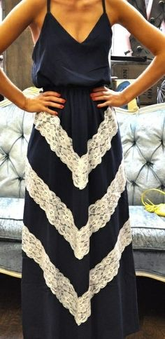 Chevron Lace Maxi Dress ♥