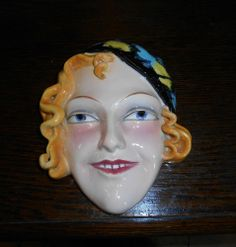 Goebel Art Deco Lady Wall Mask Gracie Fields 1930s
