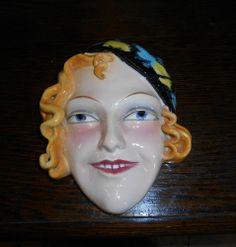 Goebel Art Deco Lady Wall Mask Gracie Fields 1930s