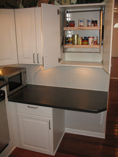 Wheelchair Accessible Kitchen Cabinets by bflosab. Like this because it could be accomplished in most any kitchen & on a budget.