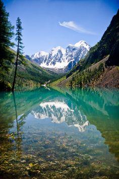 Lake Shavlinskoye, Altai, Siberia, Russia.