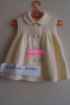 Afbeeldingsresultaat voor bebek örgü elbise yapılışları