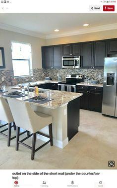 Casual Kitchen Design Ideas For The Heart Of Your Home - Fajrina Decor Kitchen Room Design, Modern Kitchen Design, Home Decor Kitchen, Interior Design Kitchen, New Kitchen, Kitchen Dining, Awesome Kitchen, Kitchen Ideas, Compact Kitchen