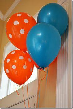 Fish Birthday Party - Orange & Blue Balloons