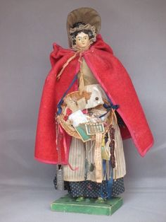 Circa 1840 Apollo knot papier mache and wood milliner's model notions peddler