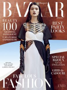 Cover of Harper's Bazaar Romania with Alexandra Maria Micu, November 2016 (ID:40804)| Magazines | The FMD #lovefmd