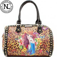 This item sell at  HandbagLoverUSA.com $64.99 Nicole Lee Nicole Lee Sandra Print Boston Bag Fashion Handbag Purse