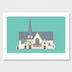Old St. Paul's Church Art Print by Hamish Thompson - All Art Prints NZ Art Prints, Art Framing Design Prints, Posters & NZ Design Gifts Graphic Art Prints, Fine Art Prints, Graphic Posters, Nz Art, Book Design, Old Things, Wall Art, Artist, Clever Design