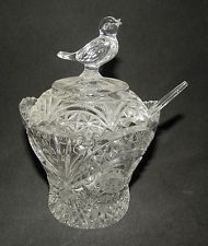 Hofbauer Byrdes Collection Crystal Clear Retired Footed Sugar...
