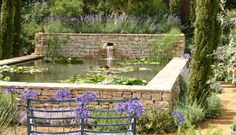 how to lay sandstones in a small court garden with a water fountain? - Google Search
