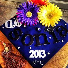 Such a cute idea! Graduation Caps, Grad Cap, University Of Idaho, Cap Decorations, Alpha Phi, Grad Parties, Sorority, Diy Ideas, Craft Ideas