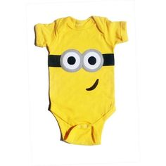 Items similar to Despicable Me Yellow Minion Baby Onesie on Etsy found on Polyvore