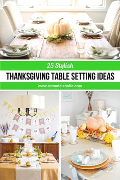 Looking for the perfect table setting for Thanksgiving? Look no further, here ar.