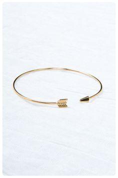 Brass Arrow Cuff: Gold | $18