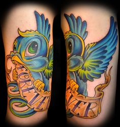 New School Bird by Lost Sparrow Tattoo