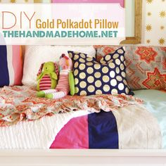 diy polkadot pillow