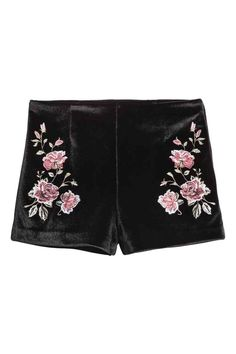 Shorts in velluto ricamati | H&M