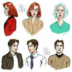 Sketches of the lovable X-Files nerds. Ghost In The Machine, Dana Scully, David Duchovny, Gillian Anderson, Great Tv Shows, My Tumblr, Favorite Tv Shows, I Movie, Fandoms