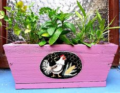 Tole Painting, Hens, Garden Ideas, Planter Pots, Landscaping Ideas, Backyard Ideas