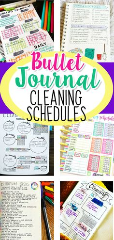 Printable Bullet Journal Cleaning Schedule Ideas and PICTURES - LOVE these bullet journal ideas for keeping track of my cleaning checklists and my hoe maintenance needs to keep my home clean and organized WITHOUT feeling overwhelmed!