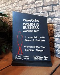 We are so excited to share this photo of our first Premium Award order.  This was handcrafted by us for the Wales Online's Women in Business Awards 2017, which was presented last Friday!  Browse our range of handcrafted Welsh slate awards and trophies at www.valleymill.co.uk