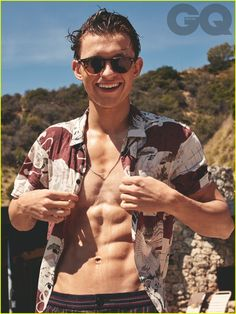 Spider-Man's Tom Holland Flaunts Ripped Abs For 'British GQ'   tom holland shirtless abs gq 01 - Photo