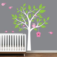 Nursery Tree Wall Sticker Decal Vinyl by Modernwalls on Etsy, $99.00