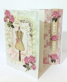 Kanban Cards, Vintage Style, Vintage Fashion, Craftwork Cards, Dress Card, Paper Crafts, Diy Crafts, Create And Craft, Vintage Cards