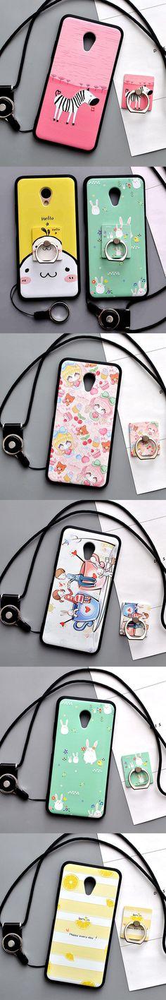 Meizu M5 Case cover 5.2 inch Cartoon 3D Relief Painting Soft Silicon TPU case for Meizu M5 mini Protector Cases Funda Capa