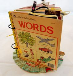 Vintage Little Golden Book Upcycled Little Golden by MadeOfFlaws, $34.00