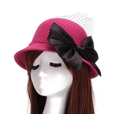 305e9c92812 2015 NEW Autumn Winter Vintage Retro Wide Brim Wool Felt Bowler Silk  Bowknot Fedora Hat Cap Cloche Elegant Hats For Women Brand