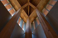 Saint Benedict Chapel, by Peter Zumthor / Sumvitg, Graubünden, Switzerland (1988)