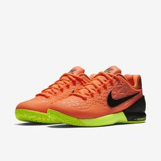 56c233cfd9 Nike Women s Air Max Cage 2 Tennis Shoes 705260-801 Hyper Orange Sz 6 - 10