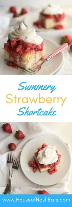 This strawberry shortcake is the perfect dessert for showcasing summer's beautiful berries topped with a dollop of freshly whipped…