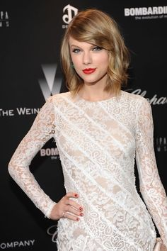 Taylor Swift-even though I love her original country hair this is still really cute and I could see attempting this with my hair :)