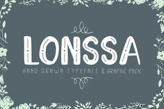 Lonssa typeface + mega Graphic pack by Jiw on @mywpthemes_xyz